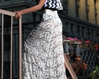 Formal Lace Skirt with train ITEM# SA815