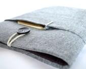 "iPad Mini 4 Sleeve, Kindle Case Cover Unisex Amazon Fire HD 8 Sleeve Galaxy Tab S 8.4"" Case For Men Women - Gray Herringbone Flannel"
