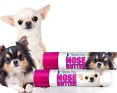 Chihuahua NOSE BUTTER® for Dry or Crusty Dog Noses Twist up Tube .15 oz Balm Your Choice of Smooth or Long Coat Chihuahua on Label