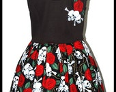 Pin up girl Rockabilly Skulls n Roses Dress  ....... LAST ONE....Size L