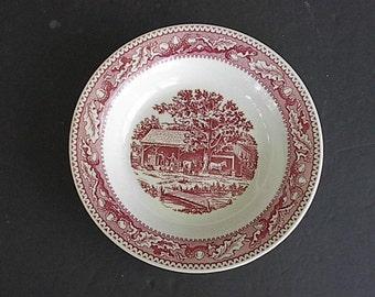 1960's Memory Lane Royal Ironstone Bowls in Pink