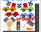 Lets Go Fast Clipart Collection - Immediate Download