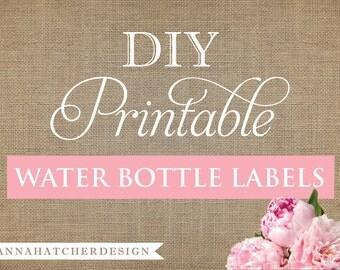 Bachelorette water bottle labels | Etsy