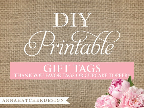 Hilaire image intended for diy gift tags free printable