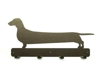 Stretch Wiener Dog Metal Art Coat Rack - Free USA Shipping