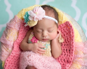 Dress Newborn Bib Romper Going Home Outfit Baby Photo Prop Embroidered Girl Overalls Mohair Knit Bodysuit Lace Knitted Coming Home Skirt