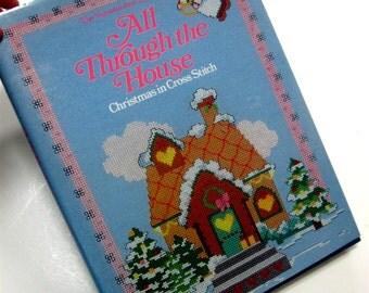 Vintage Book Christmas Cross Stitch All Through the House Vanessa Ann