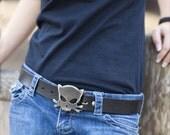 Cat Buckle/Outlaw Kitty Belt Buckle by WATTO Distinctive Metal Wear /Buckles For Men/ Belt Buckles For Women/ Cat Lover/ Cat Gifts