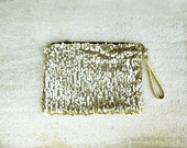 Gold sequin clutch, formal clutch, wedding clutch, bridal clutch, holiday party clutch, christmas gift for her
