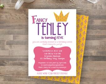 Fancy Nancy/Princess/ Royal inspired party - DIY PRINTABLE invitation
