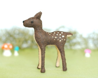 Stuffed Baby Deer Fawn * Woodland Felt Animals * Deer Feltie Soft Sculpture Toy * Made To Order Deer Plush