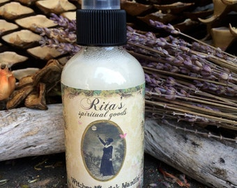 Rita's Witches Magick Vanille Spiritual Mist Spray - All Purpose Conjuring, Attraction, Luv, Mystery, Magic, Pagan, Hoodoo, Witchcraft