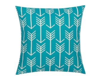 TEAL Pillow Cover.Decorator Pillow Cover.Home Decor.Large Print. ARROW.Cushions. Cushion.Pillow. Premier Prints