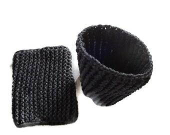 Gray Leg Warmers, Thigh High Socks, Grey Boot Toppers, Handmade Crochet Ribbed Boot Cuffs, Leg Wraps, Boot Socks