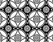 Repeating Flower Pattern - Ceramic Decal Transfer, Glass Fusing Decal, Enamel Decal
