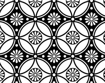 sALe!! Repeating Flower Pattern - Ceramic Decal Transfer, Glass Fusing Decal, Enamel Decal