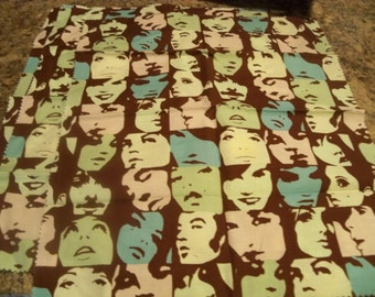 Who do you see? fifties sixties  television stars fabric