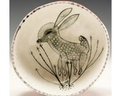 Bambi - Hand Pinched Ceramic Bowl With a Jenny Mendes Deer Fawn Painting