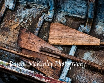 Wooden Boat Paddles Roe Boat Oars 5X7, 8x10,11x14, or 16x20 Photograph Coastal Travel Photography