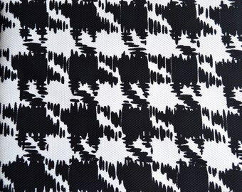 Vintage Fabric  - Black and White Pique Houndstooth - By the Yard