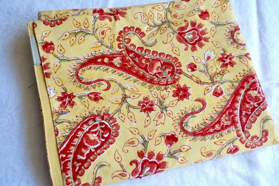 Pottery Barn Table Runner Red And Yellow Paisley