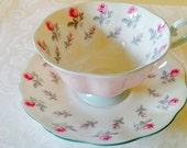 Royal Albert tea cup and saucer, vintage Royal Albert tea cup and saucer, rose tea cup set