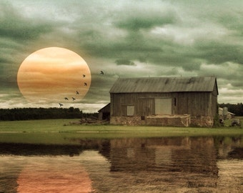 sunset photo, dramatic photo, farm, light, golden, yellow, barn photo, home decor, texture, ontario, rural, autumn, landscape, sunset, moody