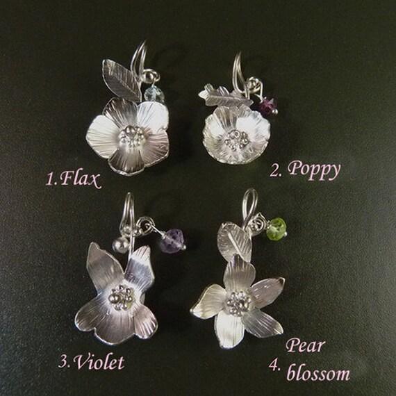 Little fairies II. Sterling Silver Pendants Handmade Metalwork