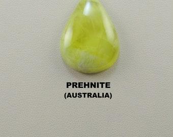 Rare Yellow Prehnite Designer Cabochon for Jewelry Artisans.