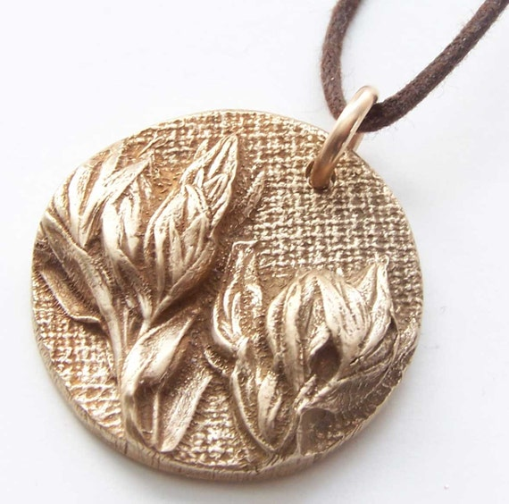 bronze necklace weed jewelry 8th bronze anniversary pendant