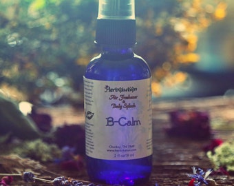 B-Calm Aromatherapy Spray. Soothing, relaxing, great for nervous tension and stress. Organic. Vegan. Natural. 4 oz