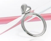 Silver Chunky Heart Ring