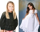 Portrait Peasant Tops and Dresses for Baby, Little Girls, and Tweens - PDF Sewing Pattern by Scientific Seamstress