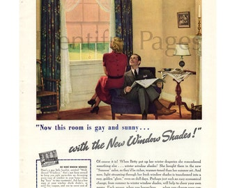 1961 Kroehler Furniture Vintage Ad Mid Century By