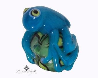 Frog Lampwork bead  - SRA Lorraine Dowdle