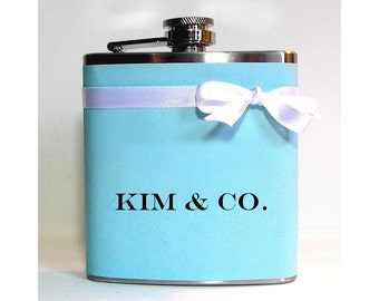 Personalized Flask, Customized Gift for Friend, 21st Birthday, Wedding Party Favors, Gift for Girlfriend, Custom Flask