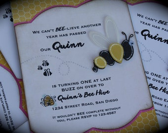 BUMBLE BEE Invitation