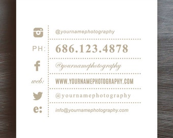 Square Business Card Template for Moo - Photographer Business Cards - INSTANT DOWNLOAD - b0044
