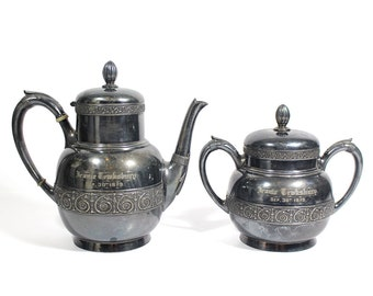 Silver Tea Set - Teapot and Bowl - Middletown Plate Co.