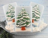 Soap - Oh Christmas Tree -  All Natural Glycerin Soap - Holiday Soaps - Christmas Soap - White Christmas -  SoapGarden
