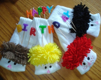 Party Favors 20 Boy Sock  Puppet Puppets by Margie ready for shipping
