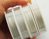 Bead Stringing Wire - Silver Color - 4 Sizes Available - Free Crimps Sample - 100% Guarantee