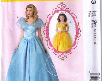 McCalls 7213 Kids Halloween costume princess pattern size 3-8