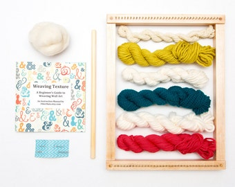 Weaving Loom Kit for Weaving Wall Art With Loom - Calypso's Isle (Bright Colors)