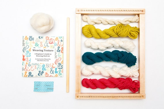 Wall Art Loom Kit : Weaving loom kit for wall art with