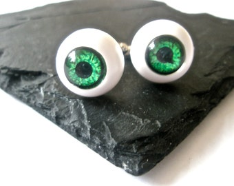Eye Ball cufflinks Steampunk Gothic jewellery alternative wedding accessories gift for best man geek wear
