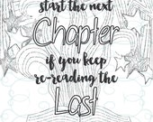 Adult Inspirational Coloring Page printable 07-The Next Chapter