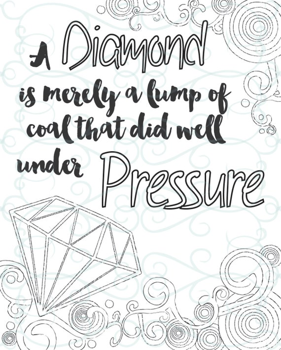 adult inspirational coloring page printable 15 under pressure - Inspirational Coloring Pages For Adults