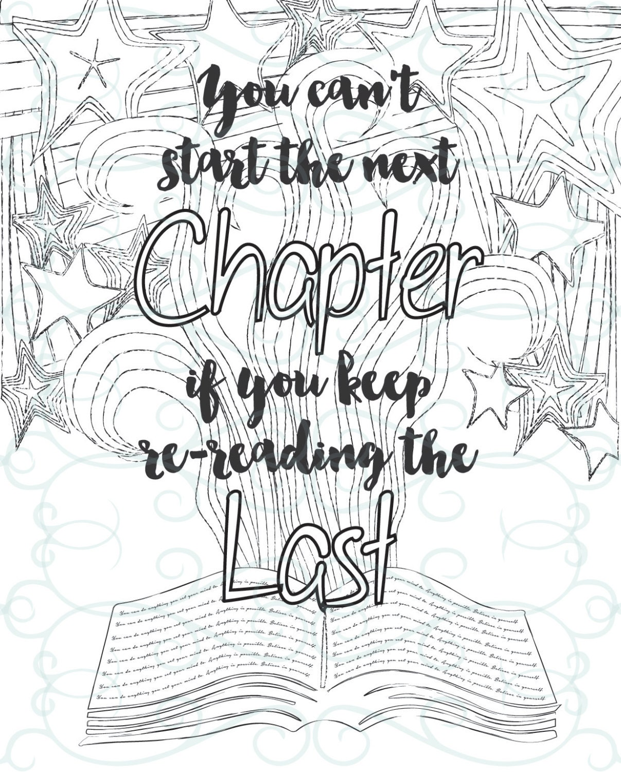 Inspirational coloring pages printable - Adult Inspirational Coloring Page Printable 07 The Next Chapter