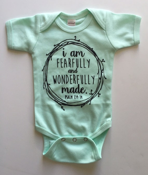 I am Fearfully and Wonderfully Made Bodysuit by ISPOTYOU ...